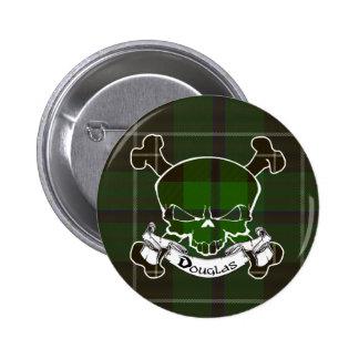Botón del cráneo del tartán de Douglas Pins