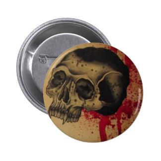 botón del cráneo del tatto pins