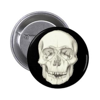 Botón del cráneo pin redondo de 2 pulgadas