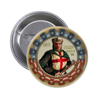 Botón del cruzado de Nader Pins