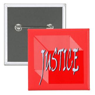 Botón del cuadrado de la justicia de Geo Pin Cuadrado