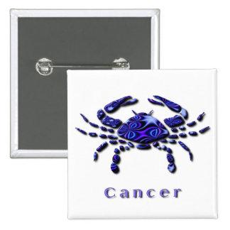 Botón del cuadrado de la muestra del cáncer pin cuadrado