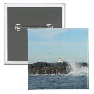 Botón del cuadrado de las ondas que se estrella pins