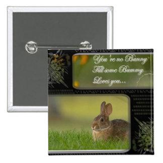 botón del cuadrado del amor del conejito pin