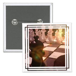 Botón del cuadrado del Grandmaster del ajedrez Pins