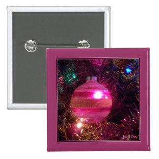 Botón del cuadrado del ornamento del vintage pins