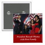 Botón del cuadrado del recuerdo de Obama Pin Cuadrado