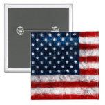 Botón del cuadrado del retrato de la bandera ameri pin