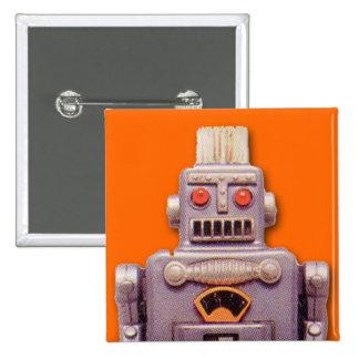 Botón del cuadrado del robot del juguete pins