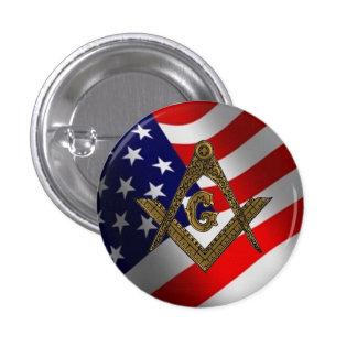 Botón del cuadrado y del compás de los E.E.U.U. Pin