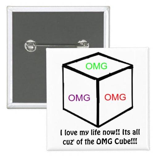 Botón del cubo de OMG Pins