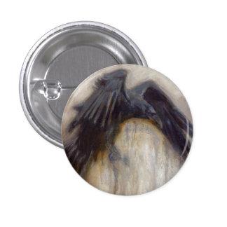 Botón del cuervo del rastrillo pin redondo de 1 pulgada