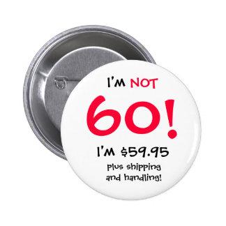 Botón del cumpleaños de 60 años