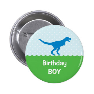 Botón del cumpleaños del dinosaurio
