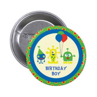 Botón del cumpleaños del golpe del monstruo