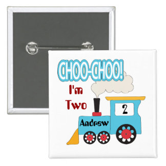 Botón del cumpleaños del tren de Choo Choo