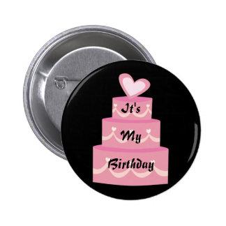 Botón del cumpleaños pin redondo de 2 pulgadas