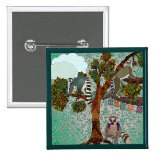 Botón del damasco de reyes Of The Forest Green de  Pins