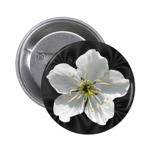 Botón del ~ de la flor de cerezo pin