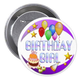 Botón del ~ del chica del cumpleaños # 2 pins