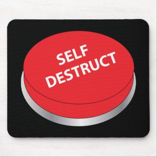 Botón del Destruct del uno mismo Mouse Pads