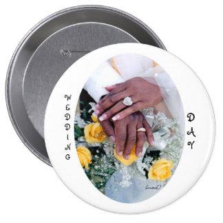 Botón del día de boda pin