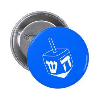 Botón del día de fiesta de Jánuca Dreidel