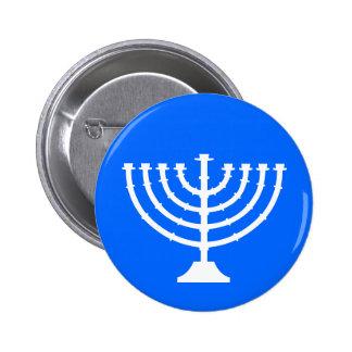 Botón del día de fiesta de Menorah