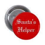 Botón del día de fiesta del navidad del ayudante d pins