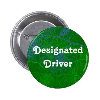 Botón del día de fiesta del pino del conductor señ pin