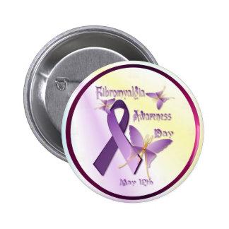 Botón del día de la conciencia del Fibromyalgia