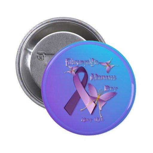 Botón del día de la conciencia del Fibromyalgia Pin