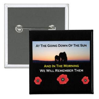 Botón del día de la conmemoración del ocaso