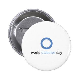 Botón del día de la diabetes del mundo pin redondo de 2 pulgadas