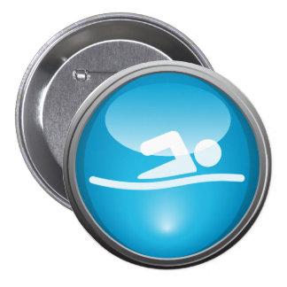 Botón del día de la raza de la NADADA del Triathlo