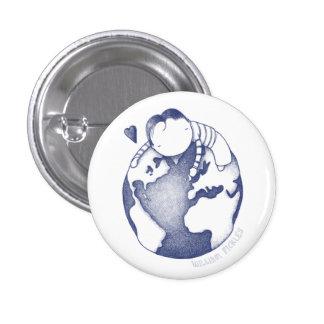 Botón del Día de la Tierra - azul Pin
