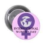 Botón del día de las mujeres pins