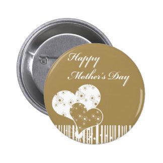 Botón del día de madres pin redondo de 2 pulgadas
