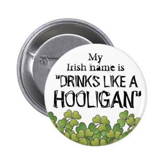 Botón del día de mi St Patrick conocido irlandés d Pin Redondo De 2 Pulgadas