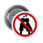 Botón del día de ningunas Anti-Tarjetas del día de Pins