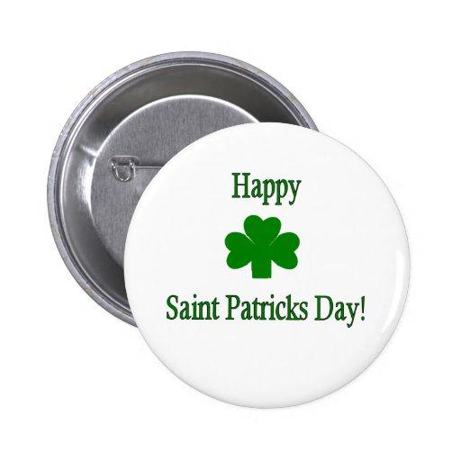 Botón del día de Patricks del santo Pin