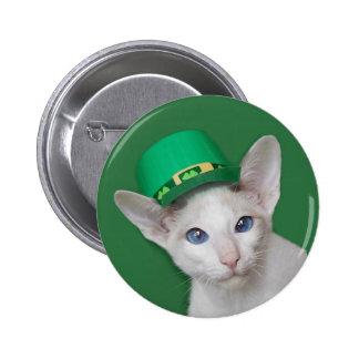 Botón del día de Skeezix McCat St Patrick Pins