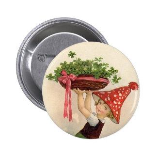 Botón del día de St Patrick del vintage Pin Redondo De 2 Pulgadas