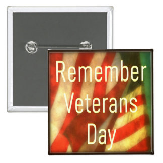 Botón del día de veteranos - recuerde el día de ve pins