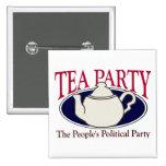 Botón del día del impuesto de la fiesta del té pin