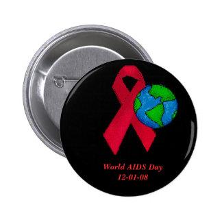 Botón del Día Mundial del Sida Pins