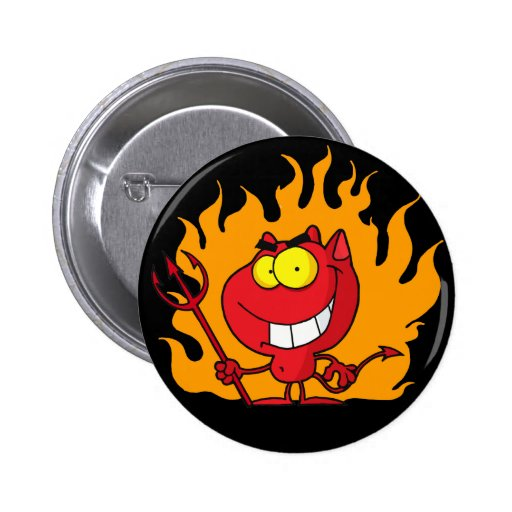 Botón del diablo de Halloween Pin