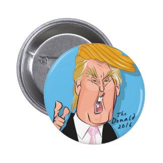 Botón del dibujo animado de Donald Trump