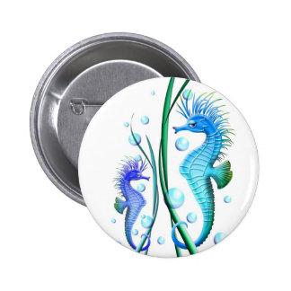 Botón del dibujo animado de los Seahorses Pin