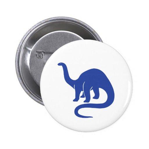 Botón del dinosaurio - azul pin